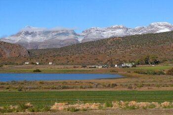 Snow, Swartberg Mountains, Klaarstroom, Karoo, Western Cape