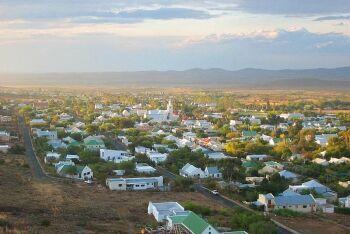 Prince Albert town view, Karoo, Western Cape