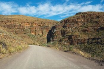 Road from Loxton, Northern Cape to Beaufort West in the Klein Karoo & Groot Karoo region, Western Cape